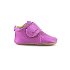 FRODDO – Puhatalpú, bőr gyerekcipő az első lépésekhez – fukszia bokacipő