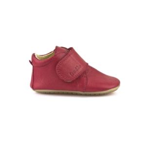 FRODDO – Puhatalpú, bőr gyerekcipő az első lépésekhez – piros bokacipő