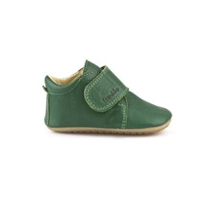 FRODDO – Puhatalpú, bőr gyerekcipő az első lépésekhez – zöld bokacipő