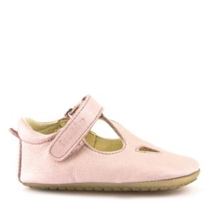 FRODDO – Puhatalpú, bőr gyerekcipő az első lépésekhez – rózsaszín szandál