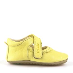 FRODDO – Puhatalpú, bőr gyerekcipő az első lépésekhez – sárga szandál