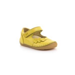 FRODDO – nyitott gyerekcipő – zárt szandál –  sárga, virágos