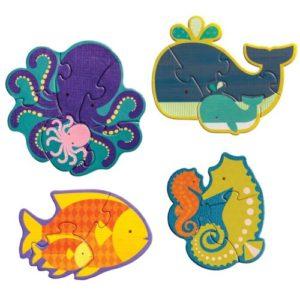 Petit Collage puzzle – kezdő kirakó – tengeri állatok