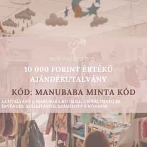 Manubaba AJÁNDÉKUTALVÁNY – 10 000 Ft