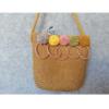 Natúr kislány táska - pom-pom