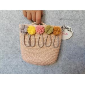 Rózsaszín kislány táska – pom-pom