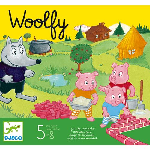Kooperatív társasjáték - A három kismalac - Woolfy (Djeco, 8427)