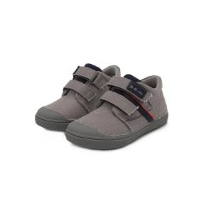 D.D.Step – Átmeneti gyerekcipő – szürke vászon – kisfiú bokacipő