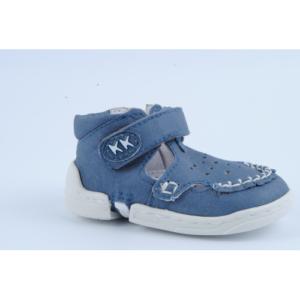 Azaga – cipzáros talpú cipő az első lépésekhez – zárt szandál – kék