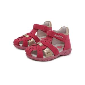D.D.Step – Nyitott gyerekcipő – bőr szandál – rózsaszín, bronz -kislány