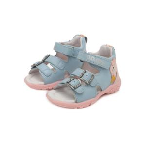 D.D.Step – Nyitott gyerekcipő – bőr szandál – hattyús -kislány