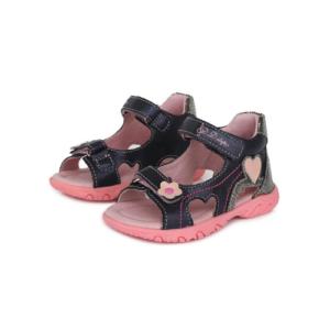 D.D.Step – Nyitott gyerekcipő – bőr szandál – sötétkék, rózsaszín -kislány