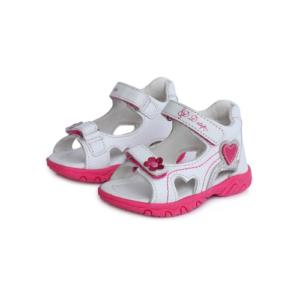 D.D.Step – Nyitott gyerekcipő – bőr szandál – fehér, rózsaszín – kislány