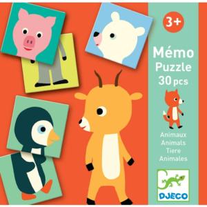 Párosító memória játék – Állatok (Djeco 8126)