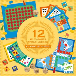 Klasszikus társasjátékok – 12 játék egy dobozban (Djeco, 5218)