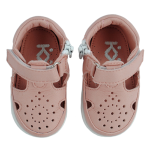 Azaga – cipzáros talpú cipő az első lépésekhez – zárt szandál – rózsaszín
