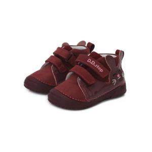 D.D. Step – Bordó, nyuszis zárt cipő – kislány
