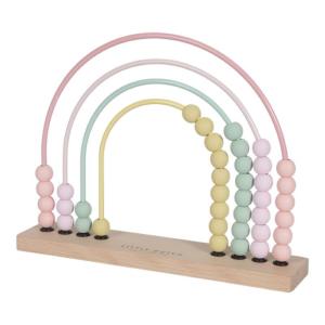 Little Dutch – Abacus szívárvány – rózsaszín