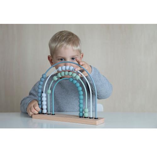 Little Dutch - Abacus szívárvány - kék