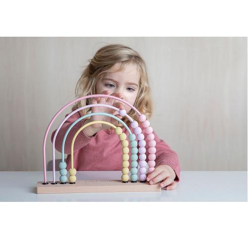 Little Dutch - Abacus szívárvány - rózsaszín