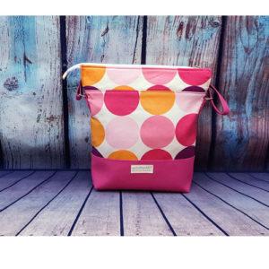 GabolinoArt – Textilbőr, női oldaltáska – Everyday – rózsaszín pöttyös