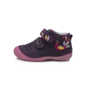 D.D. Step – Gyerekcipő – Lila, madárkás zárt cipő – kislány