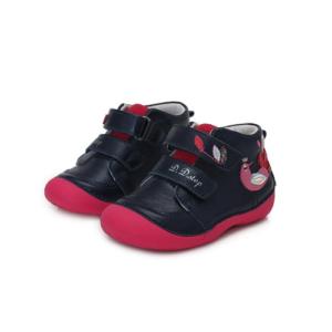 D.D. Step – Gyerekcipő – Sötétkék, madárkás zárt cipő – kislány