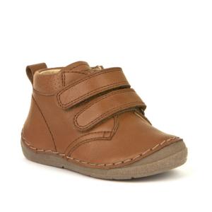 FRODDO – Átmeneti, magasszárú, bőr gyerekcipő – barna – barna talppal
