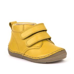 FRODDO – Átmeneti, magasszárú, bőr gyerekcipő – mustársárga
