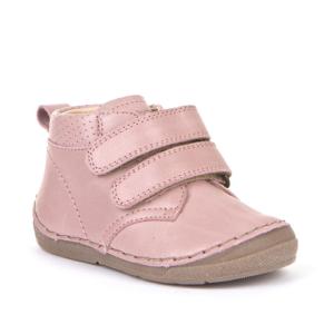 FRODDO – Átmeneti, magasszárú, bőr gyerekcipő – pink