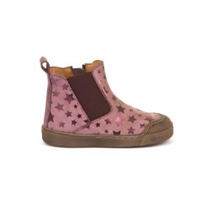 FRODDO – átmeneti, magasszárú bőr cipő – rózsaszín/csillagos