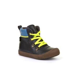 FRODDO – fűzős, átmeneti, magasszárú bőr gyerekcipő – sötétkék