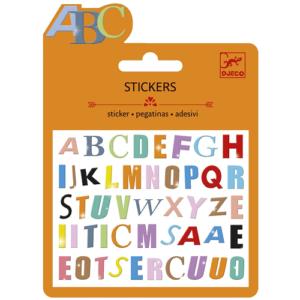 Mini matrica- Színes betűk (Djeco, 9774)
