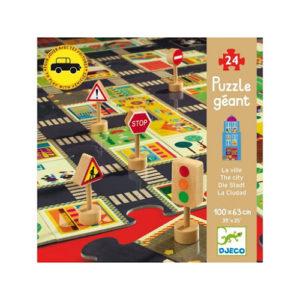 Djeco – A város – 24 db-os óriás puzzle