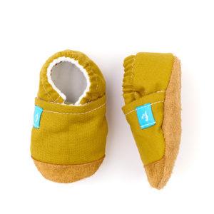 Puhatalpú kiscipő az első lépésekhez – Mustár