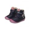 D.D. Step - Téli gyerekcipő - Sötétkék, rózsaszín, unikornisos bundás cipő - lány