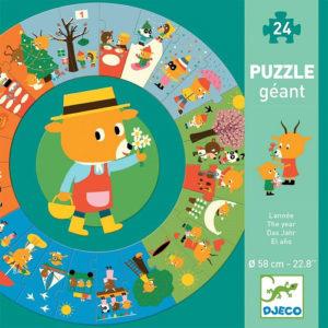 Óriás puzzle – Az év (Djeco, 7016)
