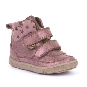 FRODDO -Vízálló, magasszárú, bélelt, duplatépőzáras gyerek cipő – rózsaszín csillagos
