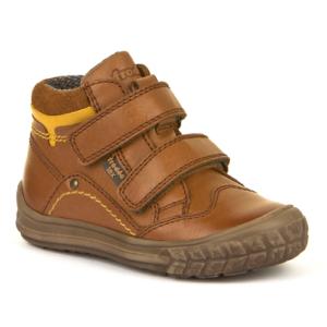 FRODDO – Vízálló, bélelt gyerek cipő extra orrvédelemmel – barna, sárga