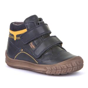 FRODDO – Vízálló, bélelt gyerek cipő extra orrvédelemmel – sötétkék, sárga