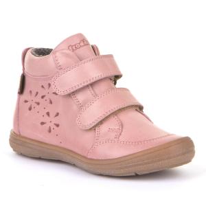 FRODDO – Vízálló, duplatépőzáras, bélelt gyerek cipő – rózsaszín virágos