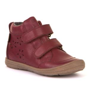 FRODDO – Vízálló, duplatépőzáras, bélelt gyerek cipő – bordó virágos