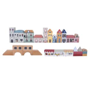 Little Dutch – Fa városi vasút kiegészítő – Város építőkockák
