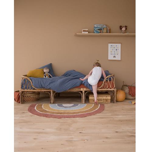 Little Dutch - Pure&Nature szivárványos gyerekszőnyeg - 130 x 80 cm
