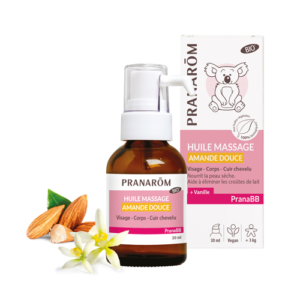 PRANAROM – PranaBB – Bio mandula baba masszázsolaj vaníliával