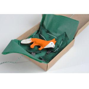 Gyerekszoba dekoráció - Varázserdő füzér babszobába - rókás