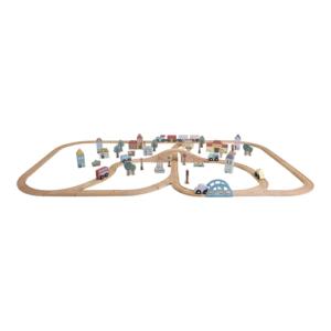 Little Dutch óriás fa vasút szett – XXL-es sínpálya készlet