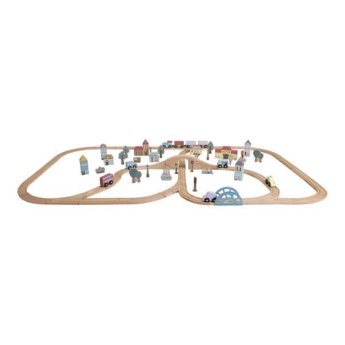 Little Dutch óriás fa vasút szett - XXL-es sínpálya készlet