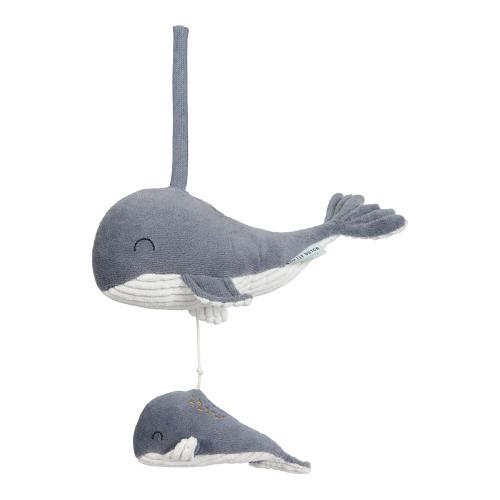 Little Dutch - Zenélő felhúzható bálna - kék