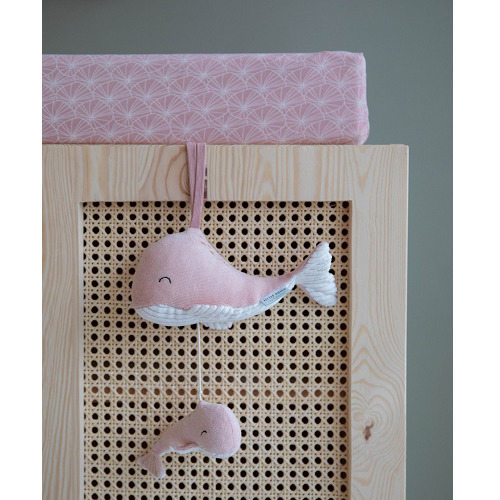 Little Dutch - Zenélő felhúzható bálna - rózsaszín